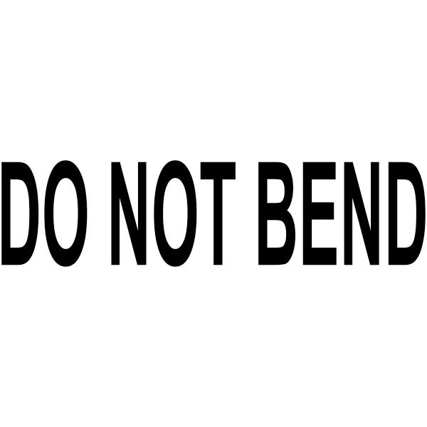 DO NOT BEND Stock Stamp Imprint