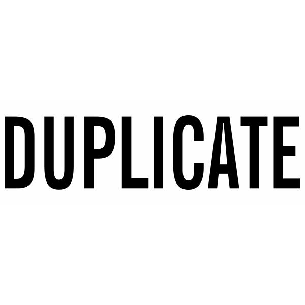 DUPLICATE Stock Stamp Imprint