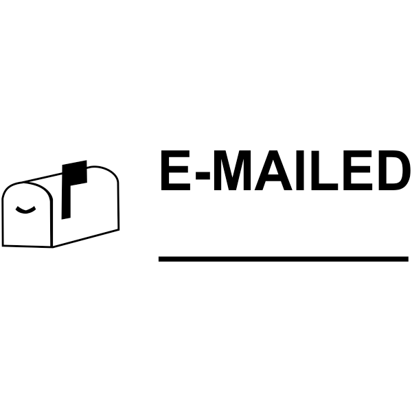 E-MAILED with Mailbox Stock Stamp Imprint
