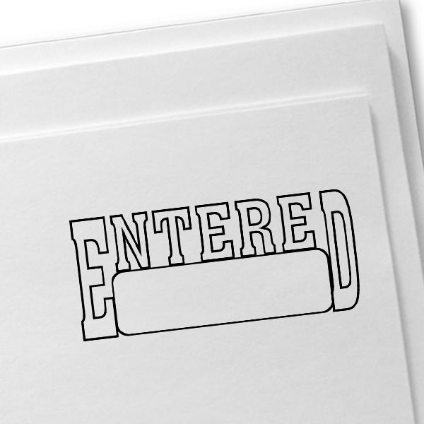 ENTERED Box Stock Stamp