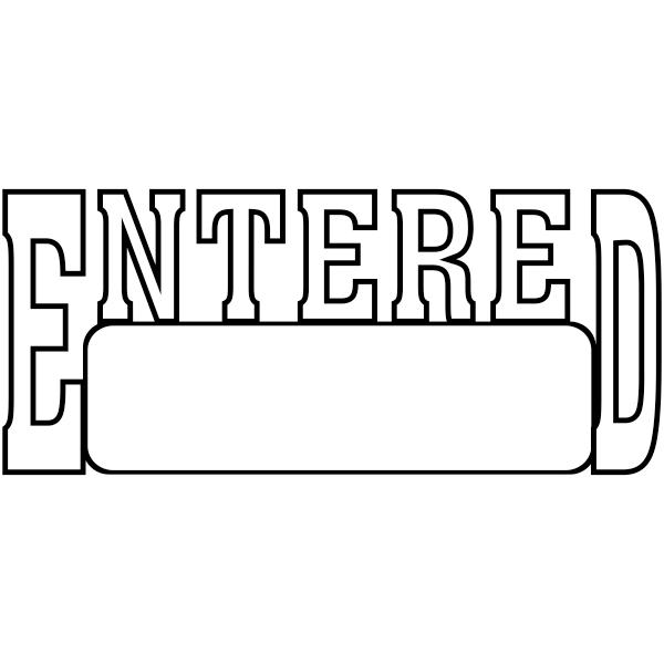 ENTERED  Box Stock Stamp Imprint