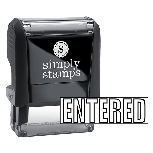 ENTERED Outline Stock Stamp