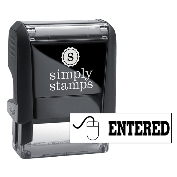 ENTERED Mouse Stock Stamp