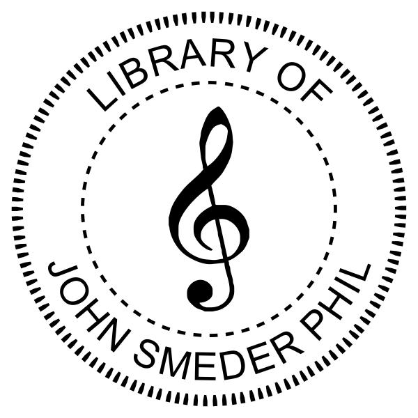 Treble Clef Music Symbol Embosser Imprint Example