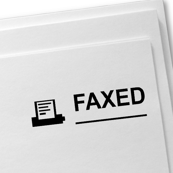 FAXED MACHINE Stock Stamp