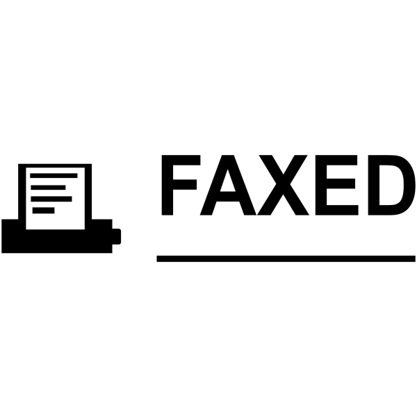 FAXED MACHINE Stock Stamp Imprint