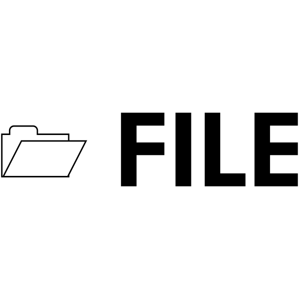 FILE with Folder Stock Stamp Imprint