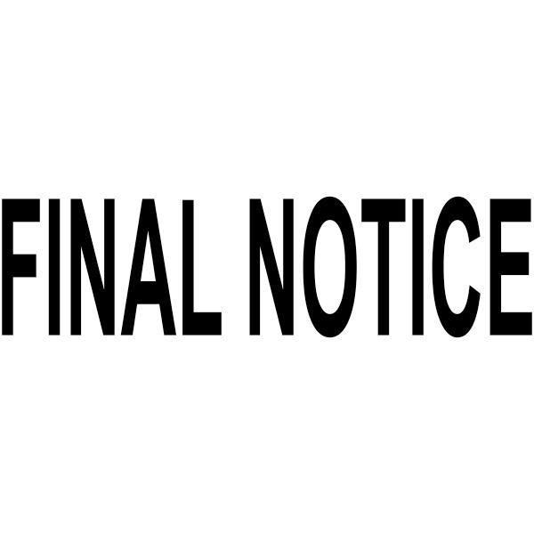 FINAL NOTICE Stock Stamp Imprint