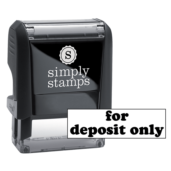 FOR DEPOSIT ONLY Lower Case Stock Stamp