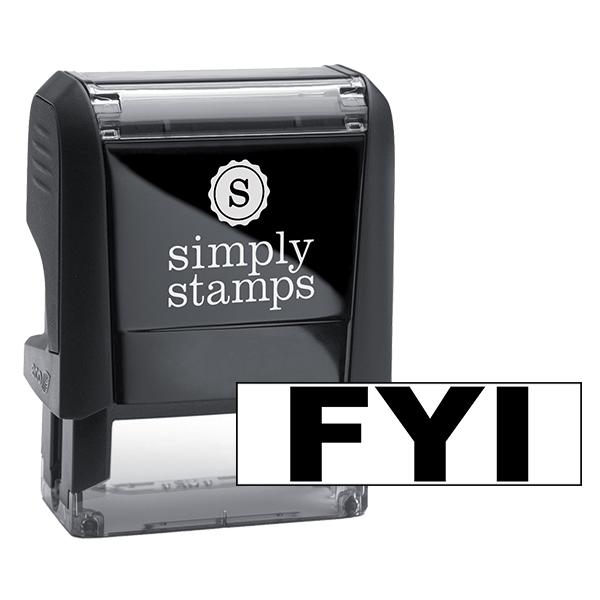 FYI Rectangular Stock Stamp