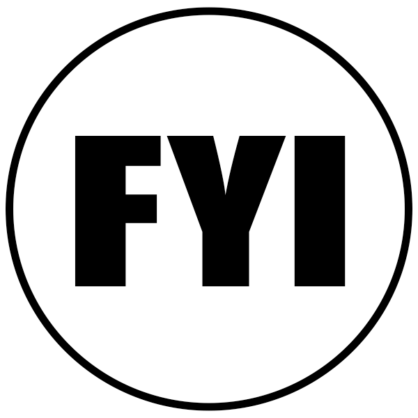 FYI Round Stock Stamp Imprint