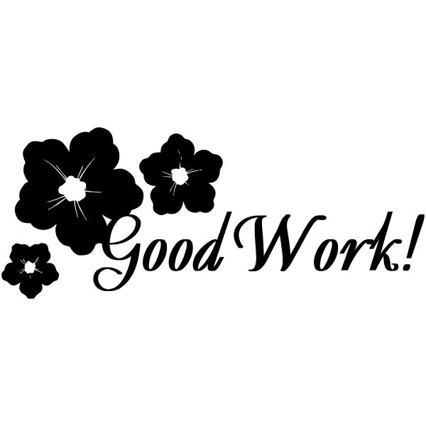 Good Work w/ Flowers Teacher Stamp