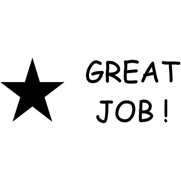 Great Job Star Teacher Stamp - Self-Inking