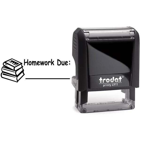 Homework Due Teacher Stamp and Imprint