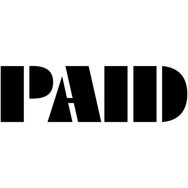 PAID Art Deco Stock Stamp Imprint