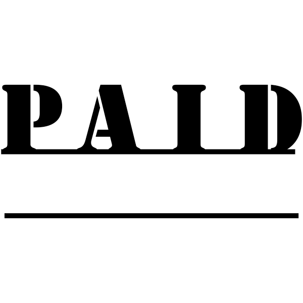 PAID Underlined Stock Stamp Imprint