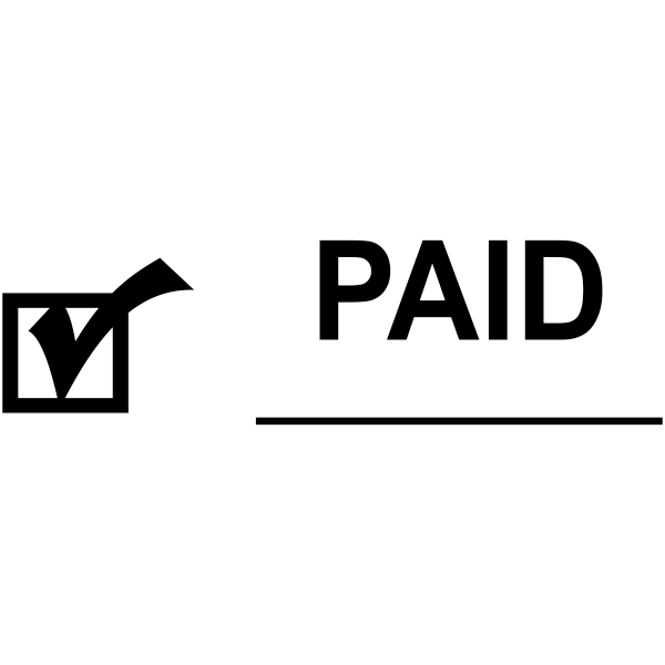 PAID Check Mark Stock Stamp Imprint