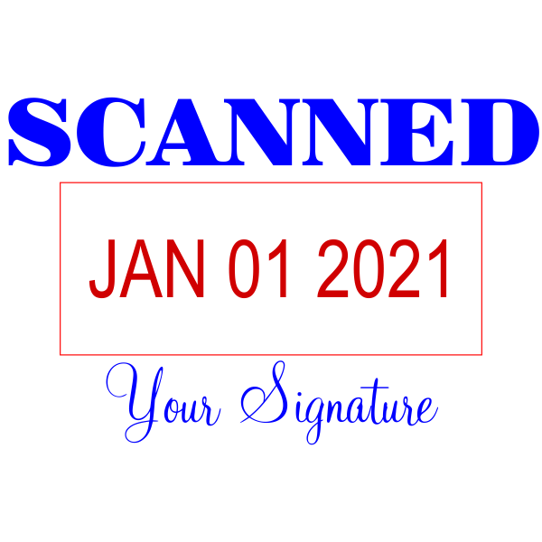 Scanned Signature Date Office Stamp