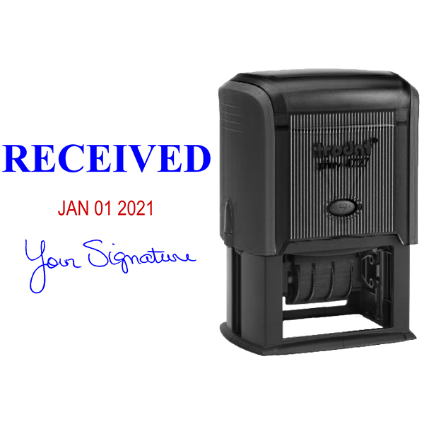 RECEIVED With Your Signature Date Stamp Body and Design