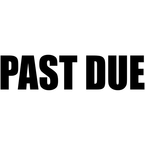 PAST DUE Bold Stock Stamp Imprint