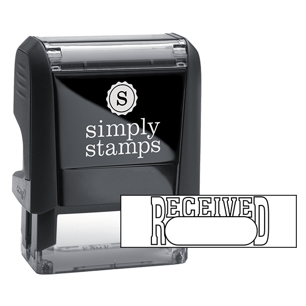 RECEIVED Outline Stock Stamp