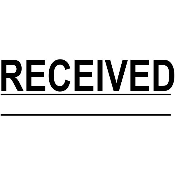 RECEIVED Underlined Stock Stamp Imprint
