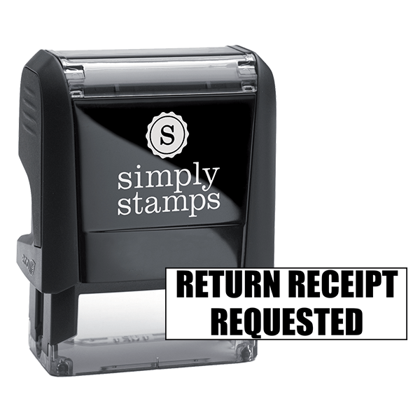 RETURN RECEIPT REQUESTED Stock Stamp