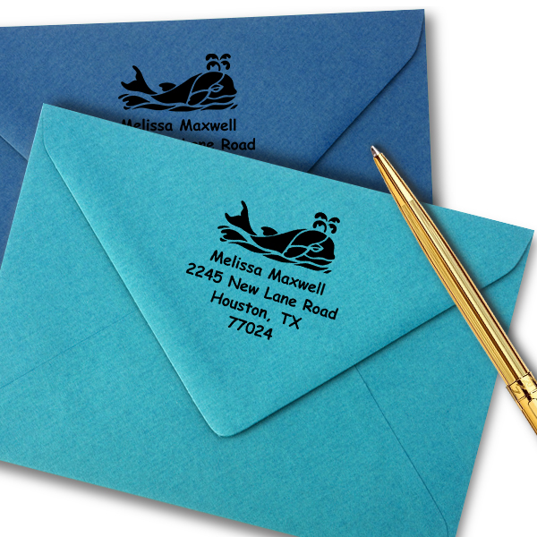Sea Whale Stamp Imprint Example