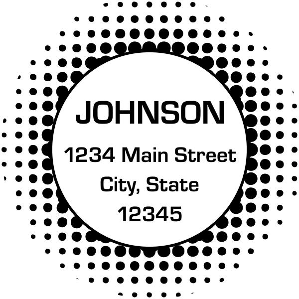 Halftone Circle Stamp