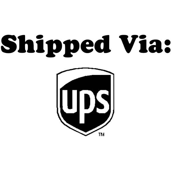 SHIPPED VIA UPS Stock Stamp Imprint