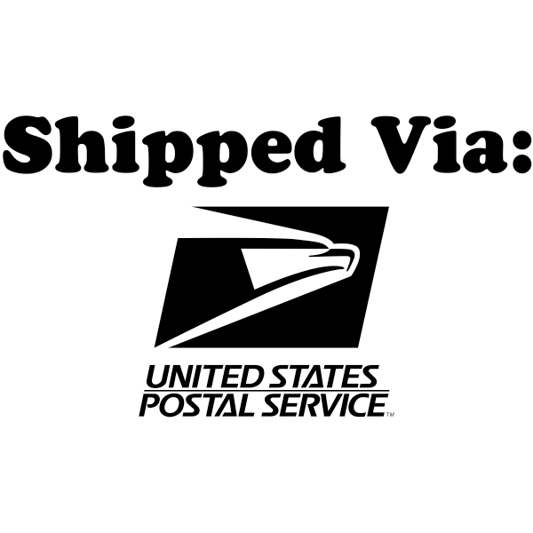 SHIPPED VIA USPS Stock Stamp Imprint