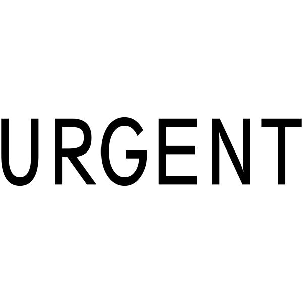 Urgent Stock Stamp Imprint