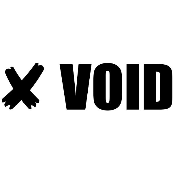 VOID X Stock Stamp Imprint