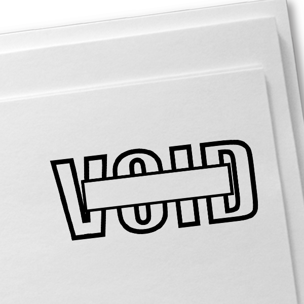 VOID Outline Stock Stamp