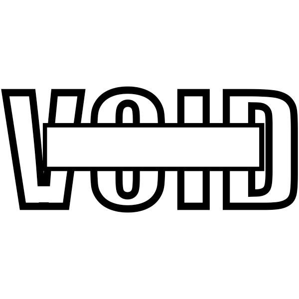VOID Outline Stock Stamp Imprint