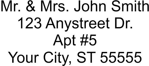 4 Line Stamp