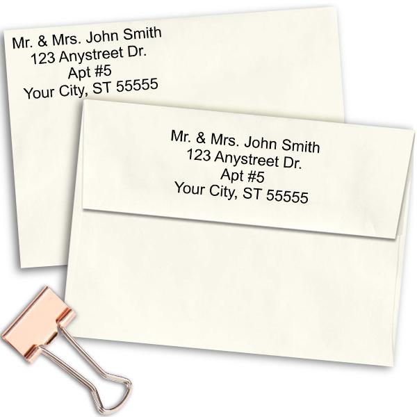 4 Line Stamp | Simple Return Address Stamp