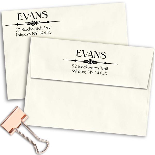 Hollister Point Custom Address Stamp Imprint Example