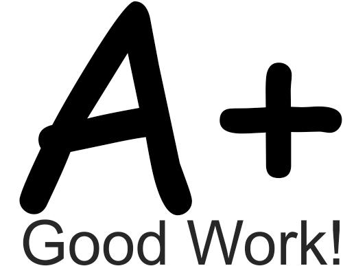 Grading - A+ Good Work! Rubber Teacher Stamp