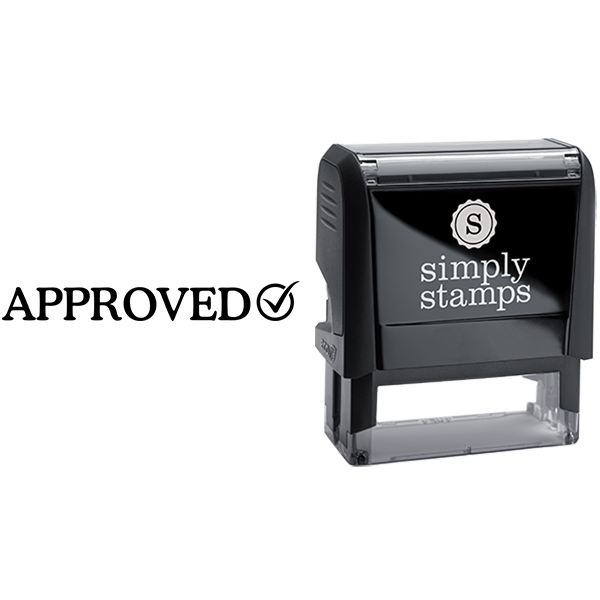 Approved with Check Mark Business Stamp