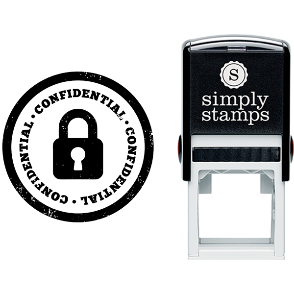 Confidential with Lock Business Stamp