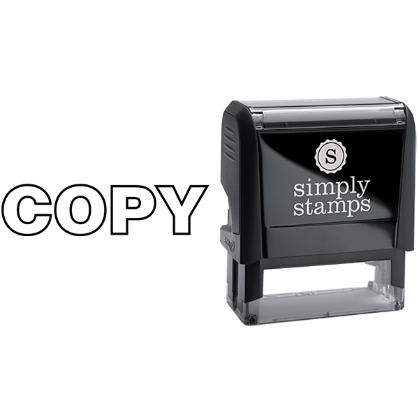 Copy in Outlined Lettering Business Stamp