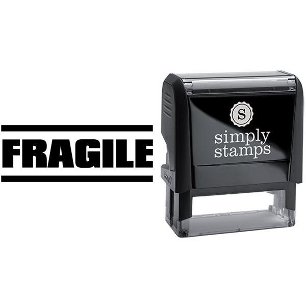 Fragile in Block Lettering Business Stamp