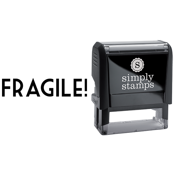 Fragile with Exclamation Point Business Stamp