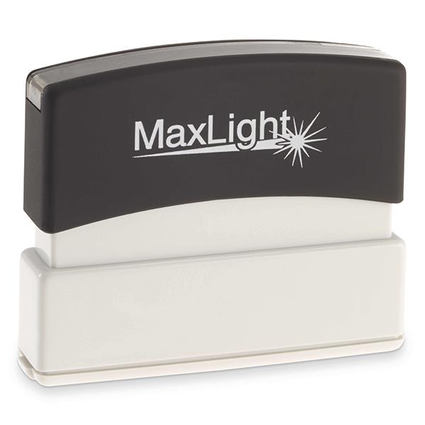 MaxLight Custom Pre-Inked Stamp - MAX-55Z - Black Ink