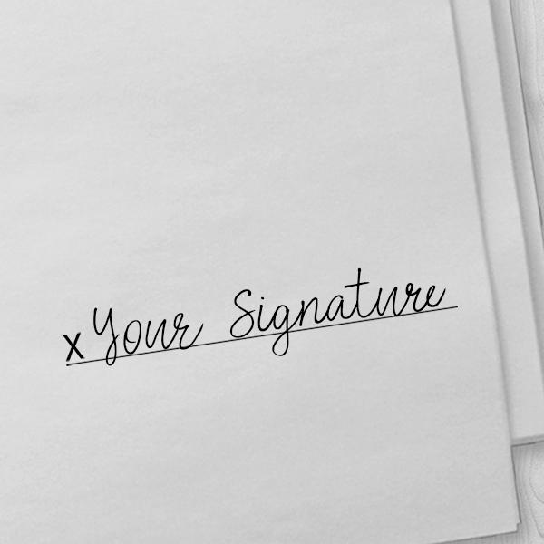 Extra Large Custom Signature Stamp