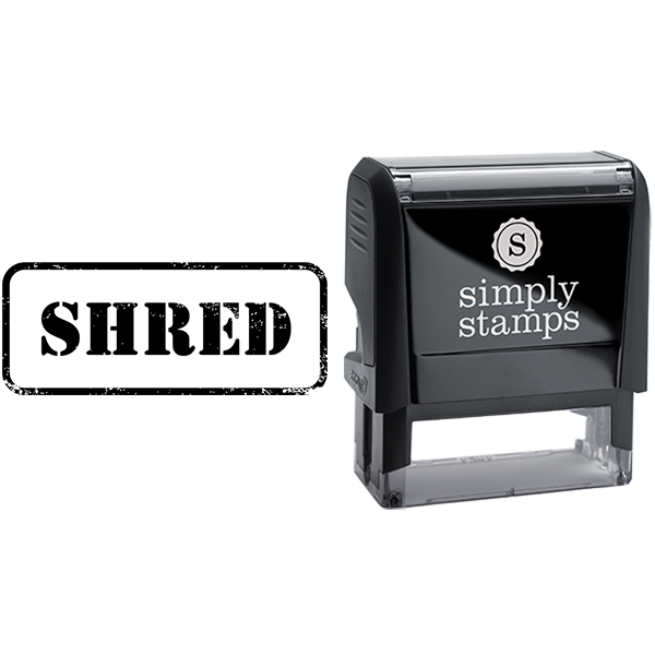 Shred in Army Stamp Lettering Business Stamp