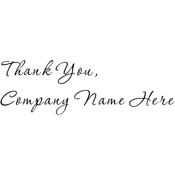 Thank You Company Stamp