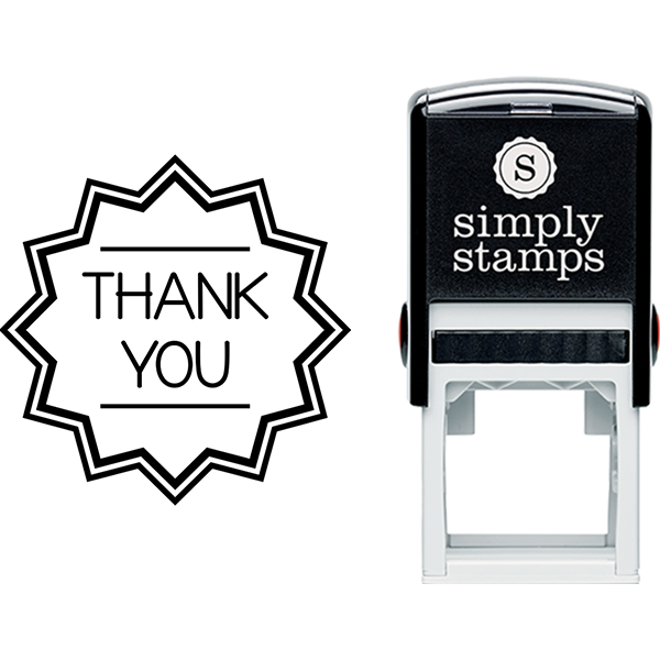 Thank You in Geometric Shape Business Stamp