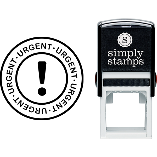 Urgent with Exclamation Point Business Stamp